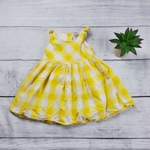{OshKosh B'gosh} Yellow Gingham Checked Sun Dress